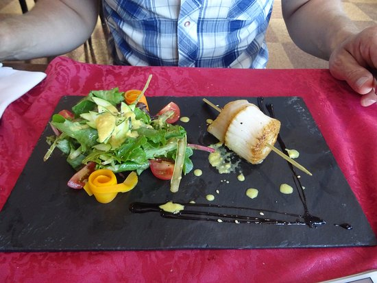 Chavelot, ฝรั่งเศส: brochette de St Jacques