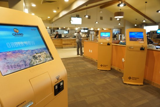 Kiosks for placing orders - Picture of Yavapai Lodge