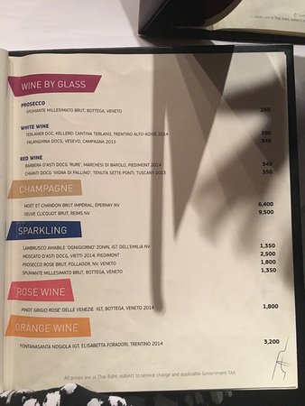 Some from wine list