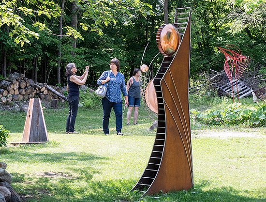 Vergas, MN: Forest Edge Gallery hides a sculpture garden in the Minnesota north woods.