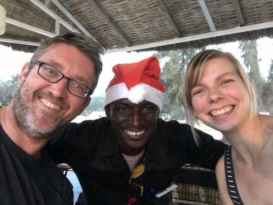 Kololi Beach Club: With Ousman, the waiter