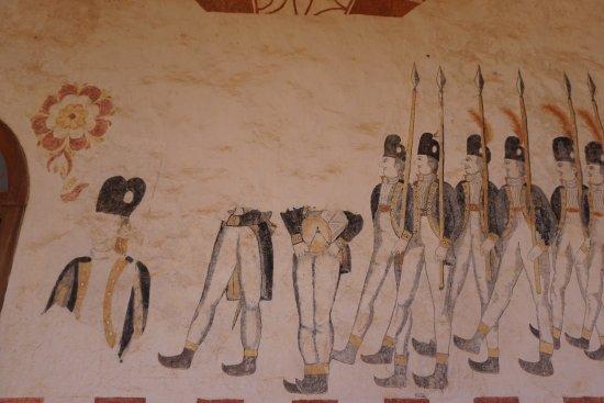 San Jose de Chiquitos, Bolivia: Detalle de las pinturas del Espacio Cultural de Chiquitos