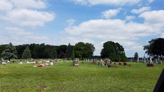 Caledonia, WI: church cemetery