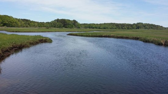 Harwich, MA: views of the water from the pedestrian bridge