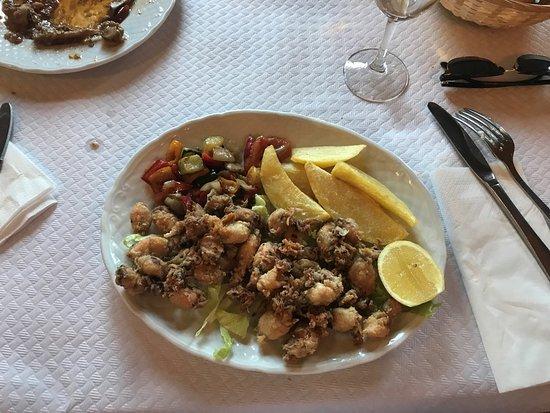 La Calahorra, Spain: Plato de puntilla del menú