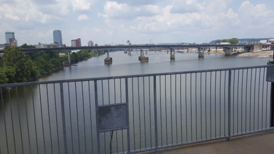 Riverfront Park: Riding a Segway around the area and went up on one of the bridges and took this photo.