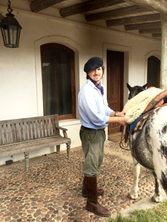 Estancia VIK Jose Ignacio: Tomas the GM, who rides with all the guests!