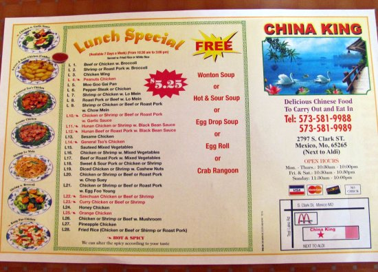 China King Mexico Mo.. Lunch Specials....by Carl H. =)~