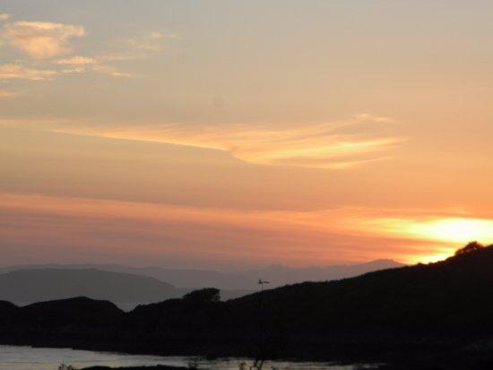Erbusaig, UK: Sunset from room