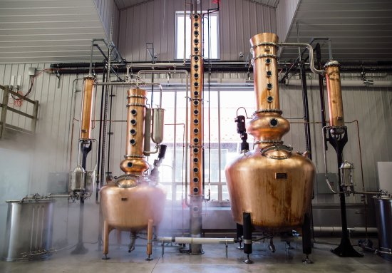Lower Township, NJ: The Spirt and Stripping Stills at Nauti Spirits Distillery