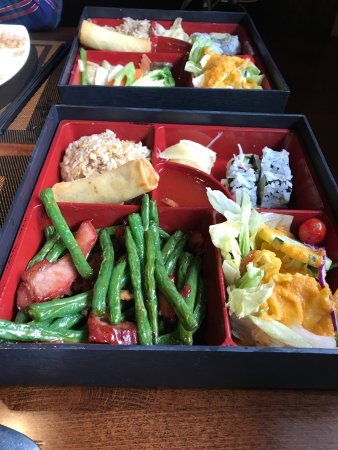 "Scotia, Estado de Nueva York: ""Bento Box"" with Chinese and Japanese food. A little confusing..."