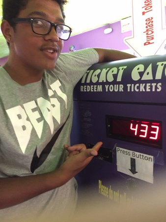 Kissimmee Go-Karts: cashing in his tickets
