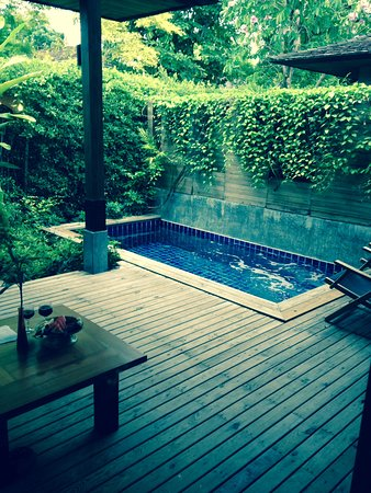Tango Luxe Beach Villa: our private plunge pool