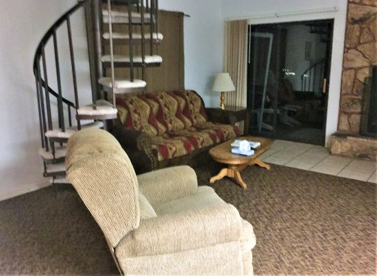 High Sierra: The Furniture Was Comfortable. Stairs Led To An Upstairs Loft  With A