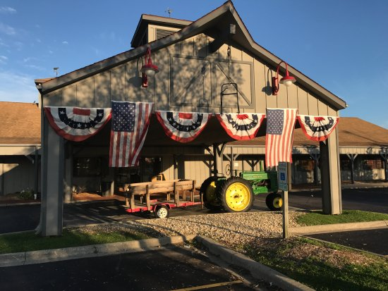 Front Of Machine Shed With John Deere Tractor Picture Of