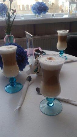 Glogow, Poland: Kawa latte