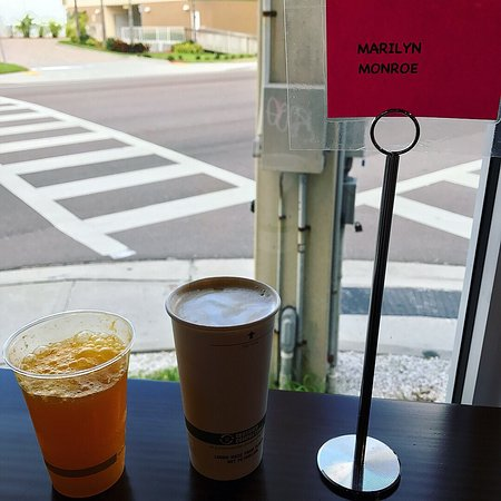 Fresh squeeze mimosa, Naughty Nut cafe & a peek-a-boo view of the Gulf.  Nice way to start a mor
