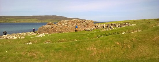 Evie, UK: Broch of Gurness showing the ditches