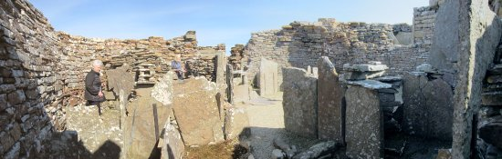Evie, UK: The furniture inside the broch