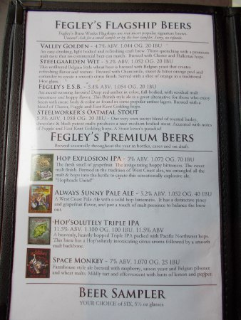 Bethlehem Brew Works: DETAIL DESCRIPTIONS OF BREWS