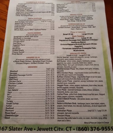Jewett City, CT: Menu