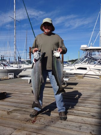 25# & 13# Chinook Salmon caught with Capt Brant Peniuk, Campbell River BC