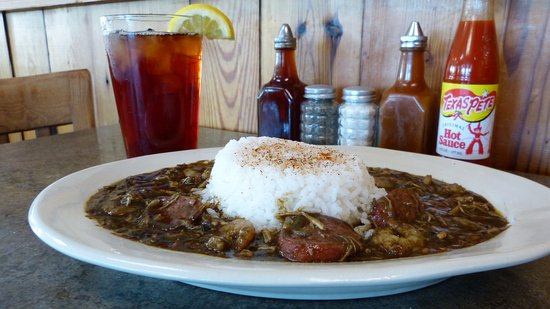 Lillington, NC: Shrimp, chicken, and sausage gumbo with rice