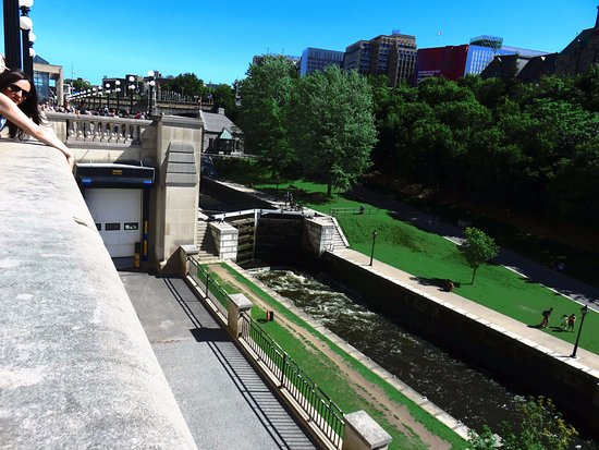 Ottawa, Canada: The Canal from the top