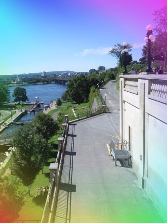 Ottawa, Canada: The Canal from the top and the lovely walk way