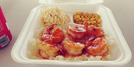 Anahola, HI: Garlic shrimp
