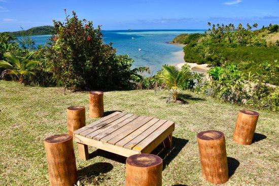 Matacawalevu Island, Fiji: Up where the chalets were