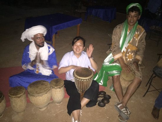 Morocco Exploration Trips: party in desert