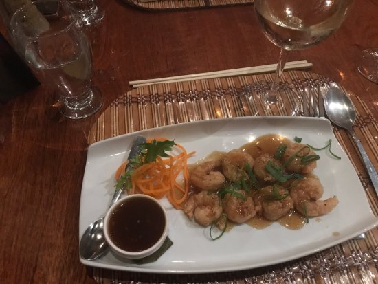 Tin Jo: Orange shrimps