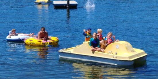 Hope, ID: Water activities were popular (many things to rent and use)