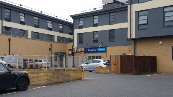 Travelodge London Sidcup Hotel Entrance From Waitrose Car Park At Rear