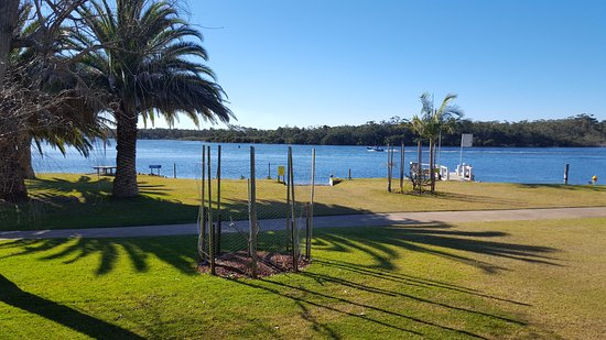 Riviera Caravan Park: View From Our Cabin