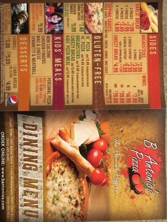 B  Antonio's Pizza, Fort Wayne - 5417 Meijer Dr - Menu