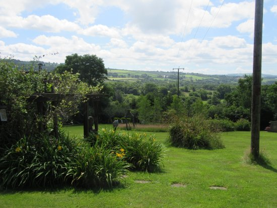 Rhydlewis, UK: View from the gardens