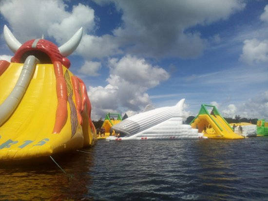 Athlone, Irlandia: the new fish slide at Baysports