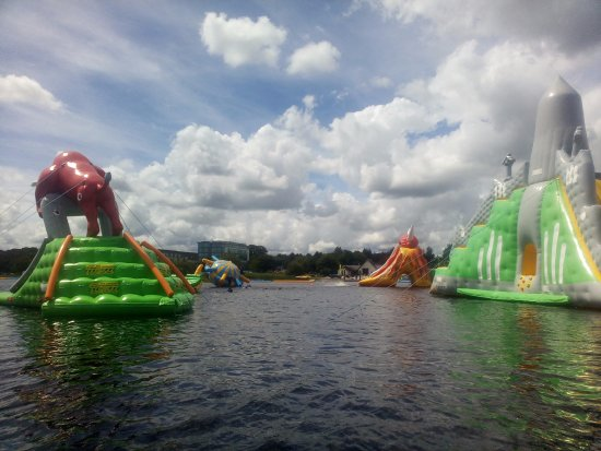 Athlone, Ireland: the bull and the tallest floating slide in the world