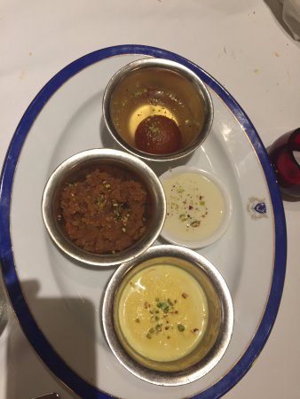 The Indian Dessert Platter - to die for