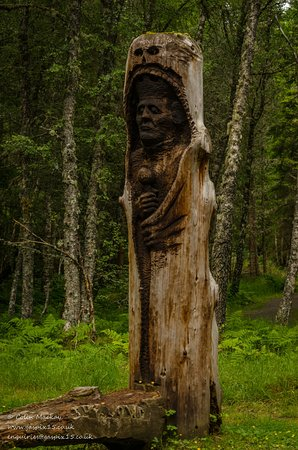 Kincraig, UK: Very though provoking sculptures made from natural materials.