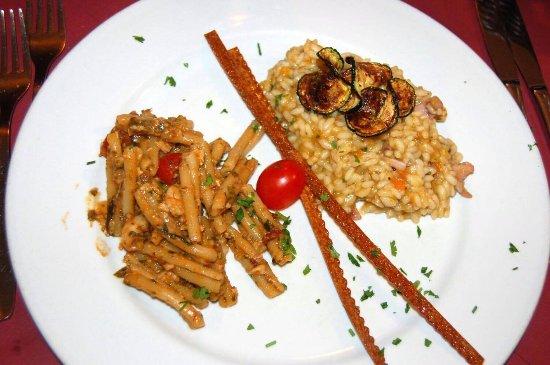 Ai Vecchietti di Minchiapititto: Casarecce con sarde e risotto zucca e gamberetti