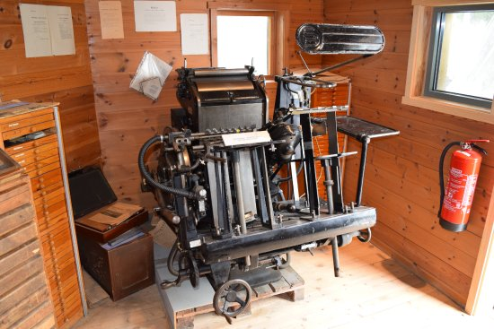 Floro, Norway: An old printing machine