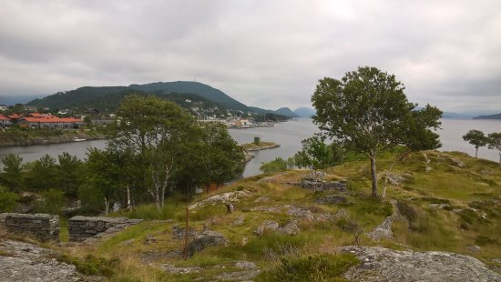 Floro, Norway: A view towards the east from the outside area.