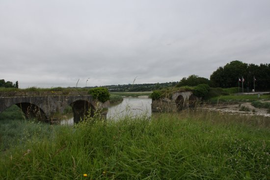 Orval, France: How the bridge has been left