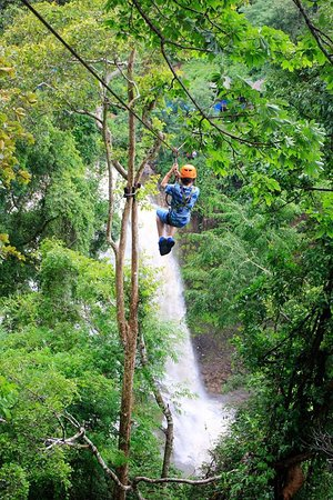 Mayura Zipline at Waterfall
