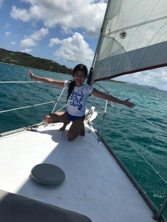 Bilinda Charters: My daughter enjoying the sail!