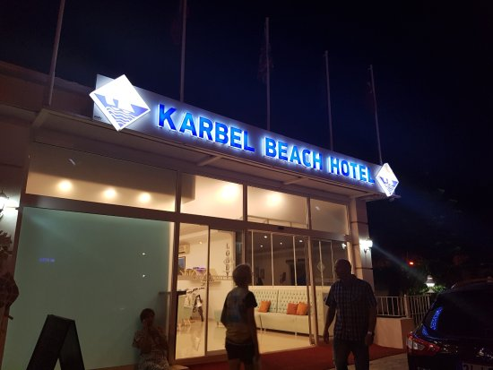 Karbel Beach Hotel: Front of hotel