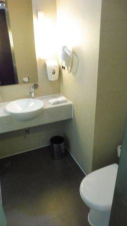 Kleine badkamer maar wel met links een ruime inloopdouche - Picture ...